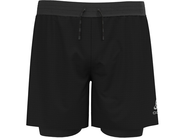 "Odlo Axalp Trail 6"" 2-in-1 Shorts Men, negro"